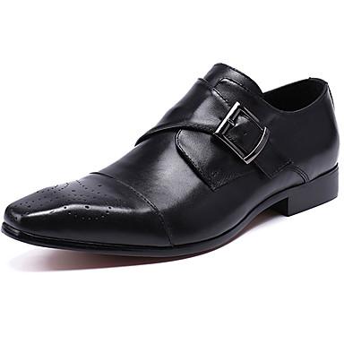 Miesten Muodolliset kengät Nappanahka Kevät Liiketoiminta / Vapaa-aika Oxford-kengät Non-liukastumisen Musta / Ruskea