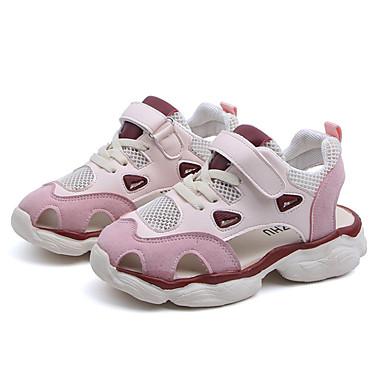 Poikien / Tyttöjen Silmukka Sandaalit Taapero (9m-4ys) / Pikkulapset (4-7 vuotta) / Suuret lapset (7 vuotta +) Comfort Kävely Solmittavat Valkoinen / Pinkki Kevät kesä / Syystalvi / Color Block