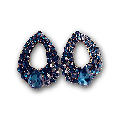 59708818158b De Moda Diamante Aretes Joyas Azul Mujer Cortos Sintético Pendientes EH9ID2