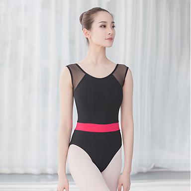 Danza classica Body Per donna Addestramento / Prestazioni Cotone / Elastene / Viscosa Più materiali Senza maniche Calzamaglia / Pigiama intero