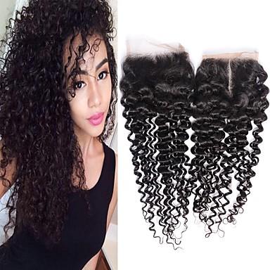 1 Bundle Brazilské vlasy Kinky Curly Remy vlasy Wig Accessories Vlasy Útek se zapínáním 8-20 inch Přírodní barva Lidské vlasy Vazby Tkanina Nový přírůstek 100% Panna Rozšíření lidský vlas Dámské