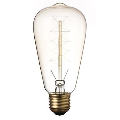 1pc 40 W E26 / E27 ST64 Gelb Transparent Körper 220-240 V