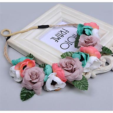 levne Dámské šperky-Dámské dámy Vintage Cute Style Elegantní Diadémy-Květinový / Peří / Látka