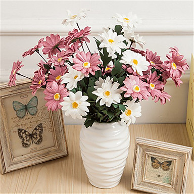 Keinotekoinen Flowers 1 haara Klassinen Eurooppalainen Krysanteemi Eternal Flowers Pöytäkukka