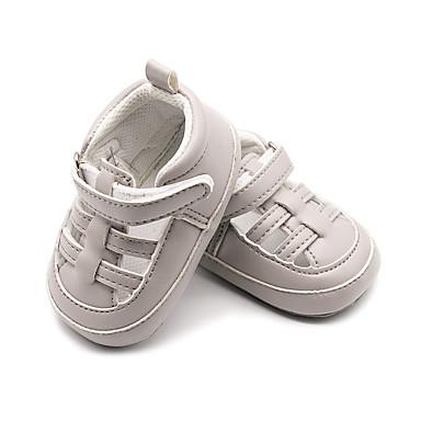 voordelige Babyschoenentjes-Jongens Eerste schoentjes PU Sandalen Peuter (9m-4ys) Wit / Grijs / Amandel Lente zomer