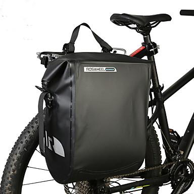 billige Sykkelvesker-20 L Vesker til bagasjebrettet Vanntett Bærbar Anvendelig Sykkelveske PVC Net Sykkelveske Sykkelveske Utendørs Trening Sykkel