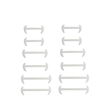 baratos Cadarços-1 Peça Silicone / Aço Inoxidável Cadarços Homens Primavera Diário Branco / Preto / Marron