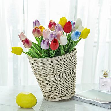 Fleurs artificielles 10 Une succursale Classique Simple Mariage Fleurs de mariage Tulipes Fleur de Table