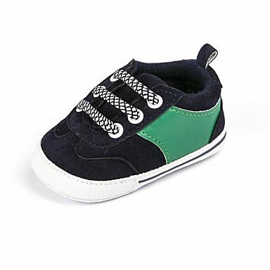 voordelige Babyschoenentjes-Jongens Eerste schoentjes Synthetisch Sneakers Peuter (9m-4ys) Rood / Blauw / Amandel Lente