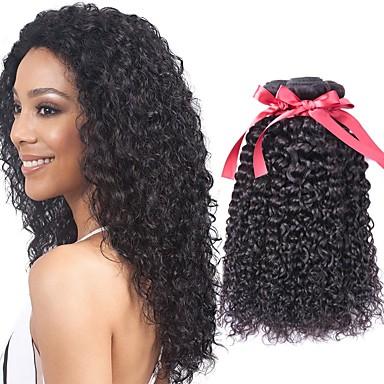 baratos Extensões de Cabelo Natural-6 pacotes Cabelo Brasileiro Kinky Curly Cabelo Virgem Cabelo Humano Ondulado Cabelo Bundle Um Pacote de Solução 8-28 polegada Côr Natural Tramas de cabelo humano Design Moderno Macio Legal Extensões