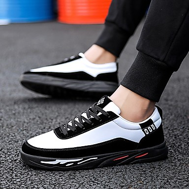 Ανδρικά Παπούτσια άνεσης PU Άνοιξη Αθλητικά Παπούτσια Μαύρο / Άσπρο / Άσπρο / Ασημί / Άσπρο και Πράσινο