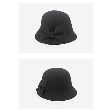 billige Hodeplagg til fest-Ull Hatter med Sløyfe 5 deler Dagligdagstøy Hodeplagg