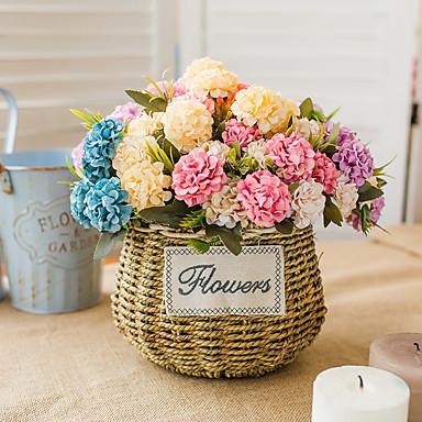 Fleurs artificielles 1 Une succursale Classique Mariage Fleurs de mariage Hortensias Fleurs éternelles Fleur de Table