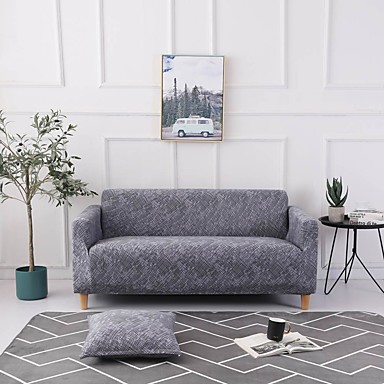 Sofa Cover Multi Color / Neutral Printed Polyester Slipcovers