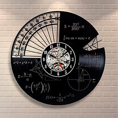 matematika téma nástěnné hodiny moderní design vintage stylu dekorace
