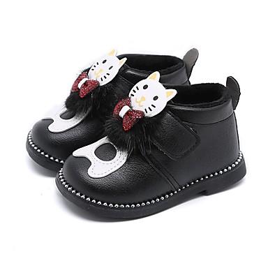 Tyttöjen PU Bootsit Taapero (9m-4ys) Talvisaappaat Musta / Punainen / Pinkki Talvi