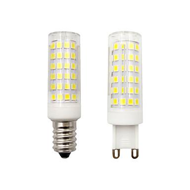 billige Elpærer-BRELONG® 1pc 8 W LED-kornpærer 500 lm E14 G9 78 LED perler SMD 2835 Mulighet for demping Dekorativ Hvit 220-240 V