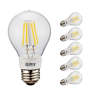 abordables Ampoules électriques-6pcs gmy a19 led ampoule à filament 4w led edison ampoule avec base e26 2700k6500k pour chambre salon home café décoratif