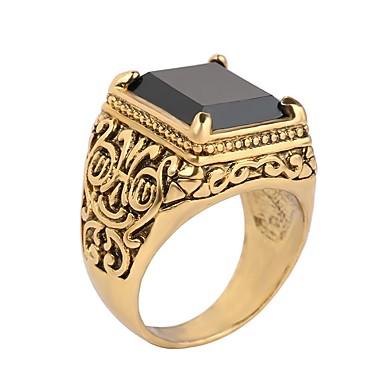 voordelige Herensieraden-Heren Ring Zegelring 1pc Zwart Rood Goud / Zwart Hars Legering Militair Schots Verjaardag Lahja Sieraden Goedkoop Magie Cool