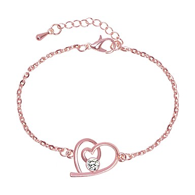 cheap Bracelets-Women's Chain Bracelet Link Bracelet Classic Stylish Artistic Simple Alloy Bracelet Jewelry Silver / Rose Gold For Holiday Office & Career Festival