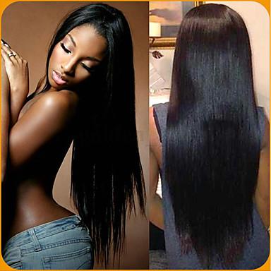 baratos Extensões de Cabelo Natural-6 pacotes Cabelo Peruviano Liso Não processado Cabelo Natural 100% Remy Hair Weave Bundles Peça para Cabeça Cabelo Humano Ondulado Cabelo Bundle 8-28 polegada Côr Natural Tramas de cabelo humano Sem