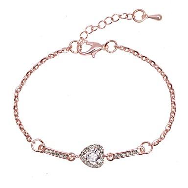 Kadın's Bağlantı Bilezik Klasik Aşk Şık Basit Romantik sevimli Stil alaşım Bilezik takı Gümüş / Gül Altın Uyumluluk Doğumgünü Günlük Resmi