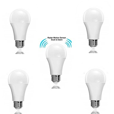 abordables Ampoules électriques-5pcs 5 W Ampoules LED Intelligentes 300 lm E26 / E27 15 Perles LED SMD 2835 A détecteur Elégant Décorative Blanc 180-240 V / RoHs