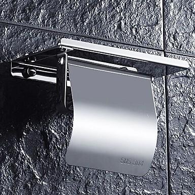 Porta Rotolo Di Carta Igienica Nuovo Design - Fantastico Modern Acciaio Inox - Ferro 1pc Montaggio Su Parete #07182586 Rimozione Dell'Ostruzione