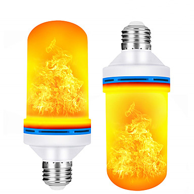 cheap LED Globe Bulbs-2pcs 5 W LED Globe Bulbs 150 lm E26 / E27 99 LED Beads SMD 2835 Color Gradient Flame Flickering Warm White 85-265 V