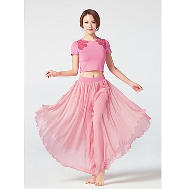 Dancewear sportivo Completi / Yoga Per donna Addestramento / Prestazioni Viscosa Più materiali Manica corta Alto Top / Pantaloni
