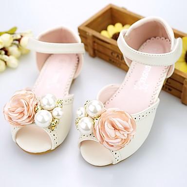 Χαμηλού Κόστους MRLOTUSNEE® Λουλουδάτα φορέματα για κορίτσια-Κοριτσίστικα Παπούτσια Μικροΐνα Άνοιξη / Καλοκαίρι Ανατομικό Σανδάλια Πέρλες / Λουλούδι για Νήπιο (9m-4ys) Ροζ / Κρύσταλλο / Καοτσούκ