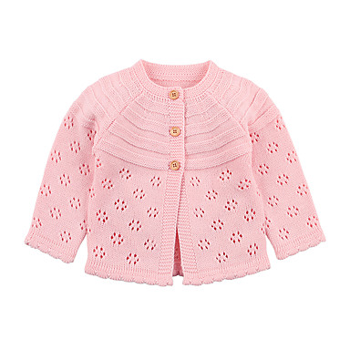 1e77cf48 Baby Girls' Basic Solid Colored Cut Out Regular Acrylic Suit & Blazer Pink