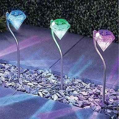 billige Utendørsbelysning-1pc 0.2 W plen Lights Solar Hvit 1.5 V Utendørsbelysning / Courtyard / Have 1 LED perler