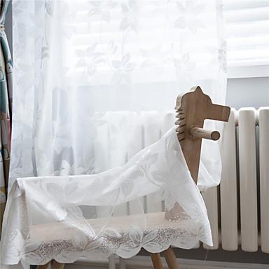 Adattabile Moderno Light-filtraggio Un Pannello Normale Salotto Curtains #07209639
