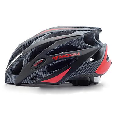 cheap Bike Helmets-MOON Adults' Bike Helmet 21 Vents Impact Resistant Integrally-molded Lightweight EPS PC Sports Mountain Bike / MTB Road Cycling Cycling / Bike - Black Black / Red Men's Women's Unisex / Ventilation