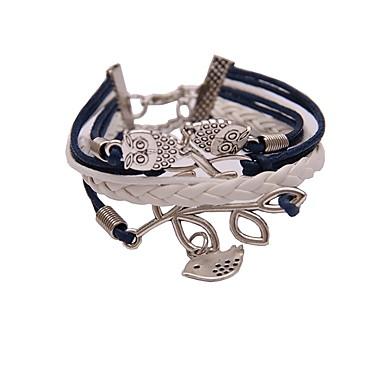 abordables Bracelet-Bracelets Plusieurs Tours Homme Femme Tressé Hip-Hop Bracelet Bijoux Bleu de minuit Bleu clair pour Quotidien Cérémonie
