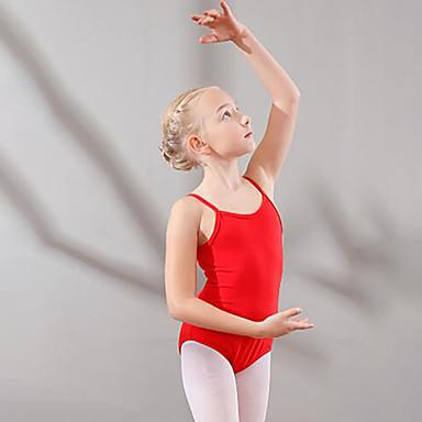 Lasten tanssiasut / Baletti Trikoot Tyttöjen Kouluts / Suoritus Puuvilla Röyhelöt Hihaton Luonnollinen Trikoot / Kokopuku