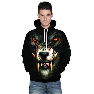 Warewolf Cosplay-Asut Aikuisten Miesten Halloween Halloween Masquerade Festivaali / loma Elastaani Polyesteria Musta Karnevaalipuvut Tulostus