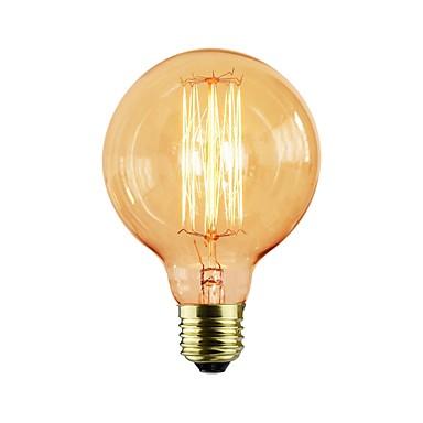 abordables Ampoules électriques-1pc 40 W E26 / E27 G95 Jaune corps Transparent Ampoule incandescente Edison Vintage 110 V