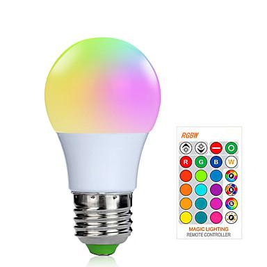 abordables Ampoules électriques-1pc 3 W Ampoules LED Intelligentes 200-250 lm E26 / E27 1 Perles LED SMD 5050 Elégant Intensité Réglable Commandée à Distance RGBW 85-265 V / RoHs / FCC
