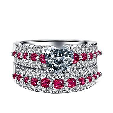 voordelige Dames Sieraden-Dames Ring Ringen Set Zirkonia 2pcs Roze Legering Lahja Dagelijks Sieraden