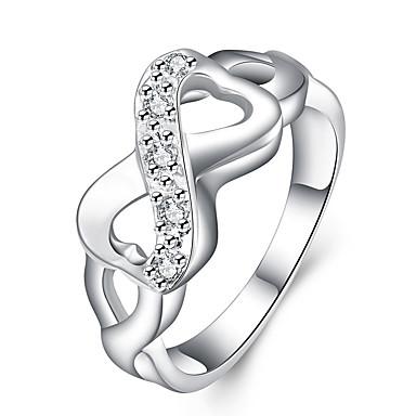 Χαμηλού Κόστους Μοδάτο Δαχτυλίδι-Γυναικεία Διπλό X δακτύλιο Δακτύλιος Δήλωσης Επάργυρο Κράμα Απειρο κυρίες Εξατομικευόμενο Πολυτέλεια Μοναδικό Μοδάτο Δαχτυλίδι Κοσμήματα Ασημί Για Γάμου Πάρτι Δώρο Καθημερινά Μασκάρεμα Πάρτι Αρραβώνων