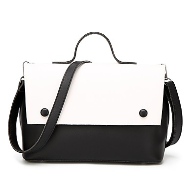 d59e9c1803 Γυναικεία Τσάντες PU Σετ τσάντα 2 σετ Σετ τσαντών Καρφιά Συνδυασμός  Χρωμάτων Ρουμπίνι   Ανθισμένο Ροζ   Κίτρινο