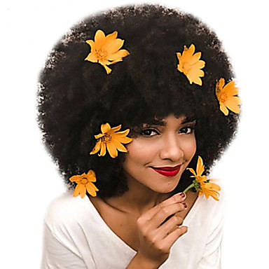 Dolago Mongolian Afro Kinky Curly Full Lace Human Hair Wigs for Black Women 130% Density Short Bob Wigs