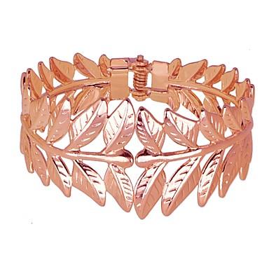 baratos Bangle-Mulheres Bracelete Estilo vintage Punhos Importante Europeu Romântico Renascentista Liga Pulseira de jóias Prata / Ouro Rose Para Carnaval Mascarilha Bagels