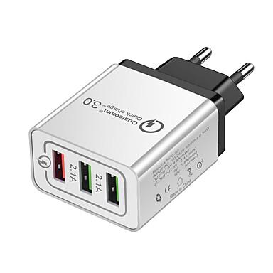 Caricabatteria USB -- 3 Stazione di caricatore dello scrittorio Con Quick Charge 2.0 Presa US / Presa EU Adattatore di carica