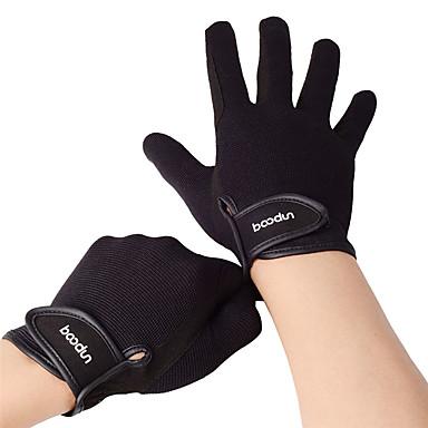 BOODUN ถุงมือสัมผัส กีฬา เต็มนิ้วมือ ระบายอากาศ สวมใส่ได้ Skidproof สีดำ กาแฟ เส้นใยพิสิฐ Multisport กิจกรรมและถุงมือสำหรับกีฬา ทุกเพศ
