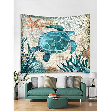 Merieläin Wall Decor 100% polyesteri Nykyaikainen Wall Art, Seinävaatteet Koriste