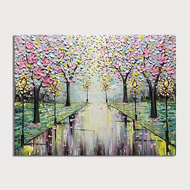 Hang-malované olejomalba Ručně malované - Krajina Květinový / Botanický motiv Moderní Bez vnitřní rám