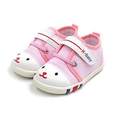 100% Vero Da Ragazza Scarpe Di Corda Primavera Comoda - Primi Passi Sneakers Per Bambini Blu - Rosa #07214832
